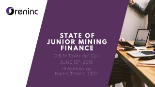 Junior Mining Finance Report - June 2019